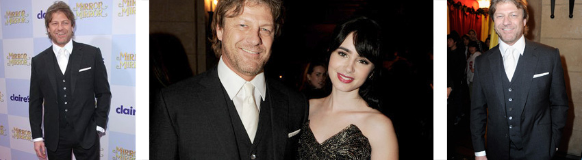 Sean Bean with Lily Collins