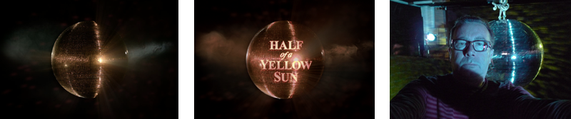 Half of a Yellow Sun Disco Ball